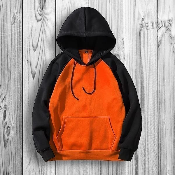 Classic solid-coloured hoodie for men
