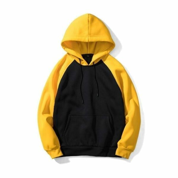 Classic two-coloured hoodie for men