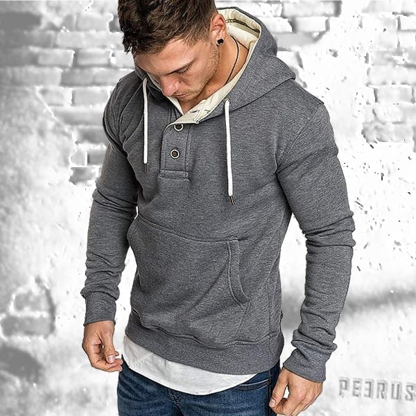 Men's polar hooded sweatshirt