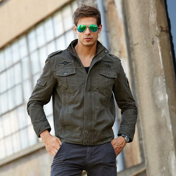 Casual military cargo cargo jacket