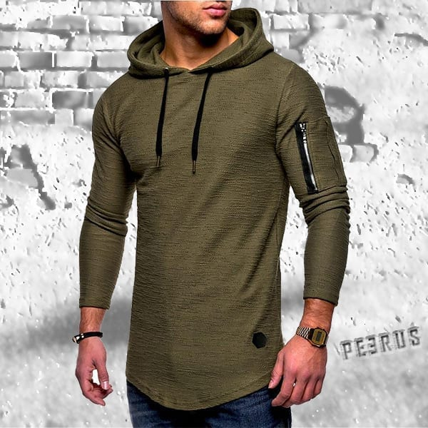 Long-sleeved T-shirt and bamboo fiber hood