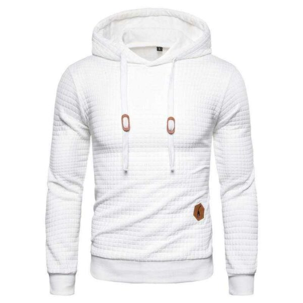 Sweat à capuche hoodie design plaid pour homme