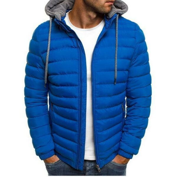 Casual light jacket for men - Warm hooded windbreaker coat