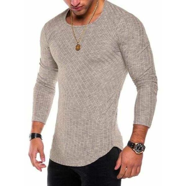 Slim fit o neck casual knitted sweater for men