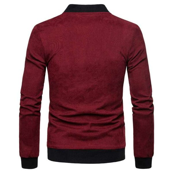 Slim-fitting bomber classic velvet design for men