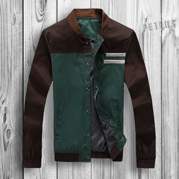 Casual men's baseball-style windbreaker