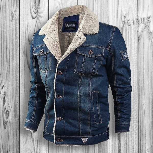 Cowboy-style hot denim jeans coat for men