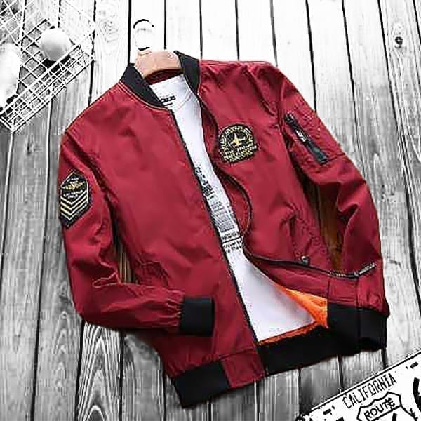 Light jacket for men's classic aviator style