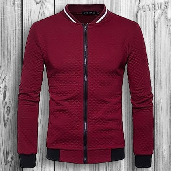 Men's lightweight plaid mid-season jacket