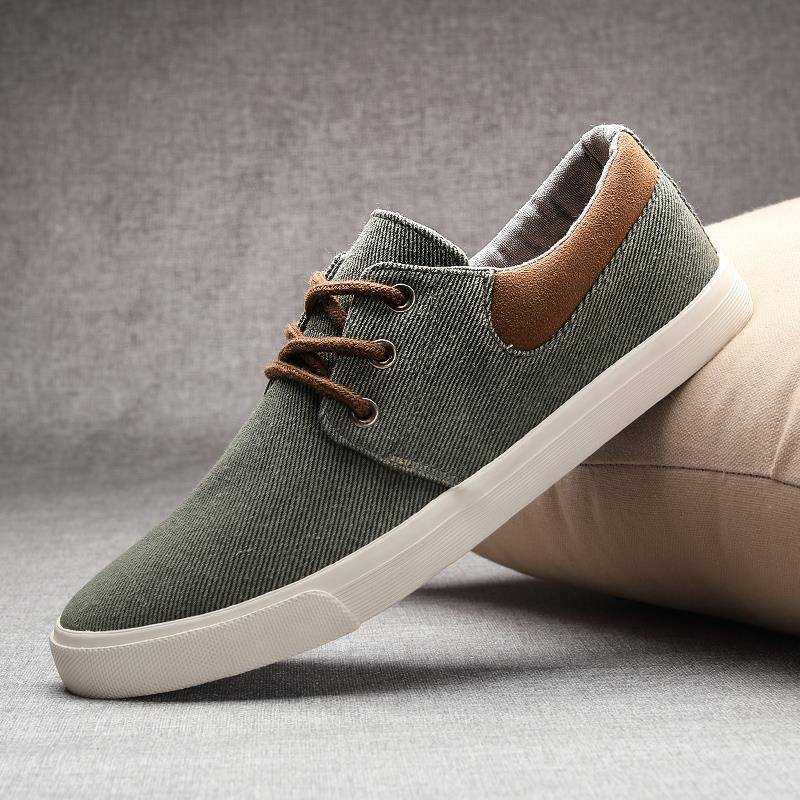 Men's skate-style canvas summer shoes