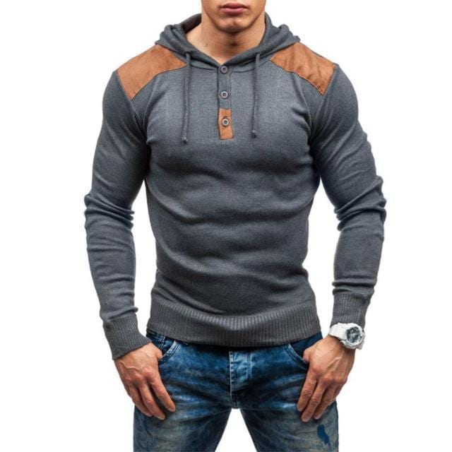 Hoodie slim fit sweat à capuche design pour homme