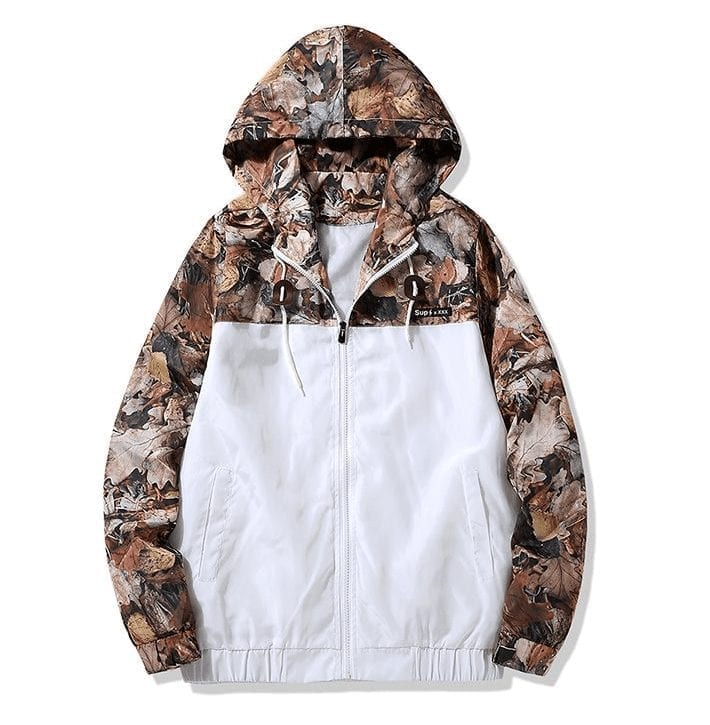 Light jacket camouflage camouflage patterned for men