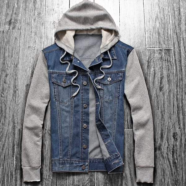 Men's mid-season denim jacket jeans