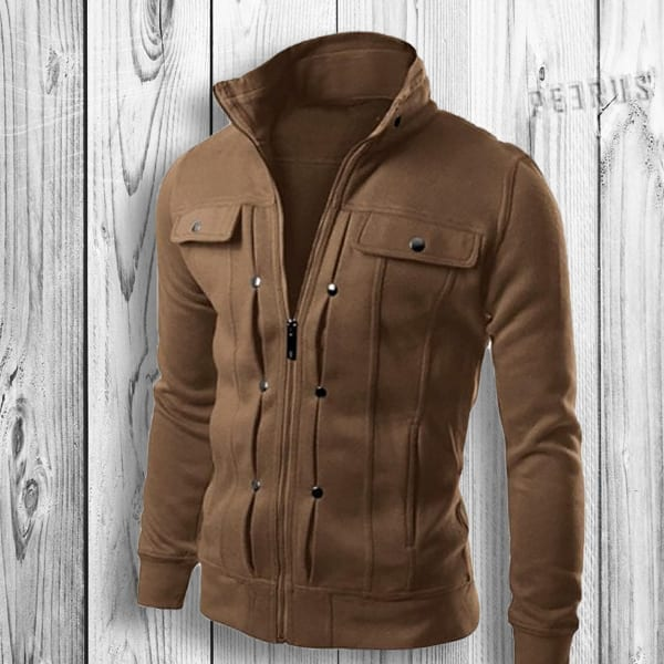 Casual mid-season cardigan jacket for men