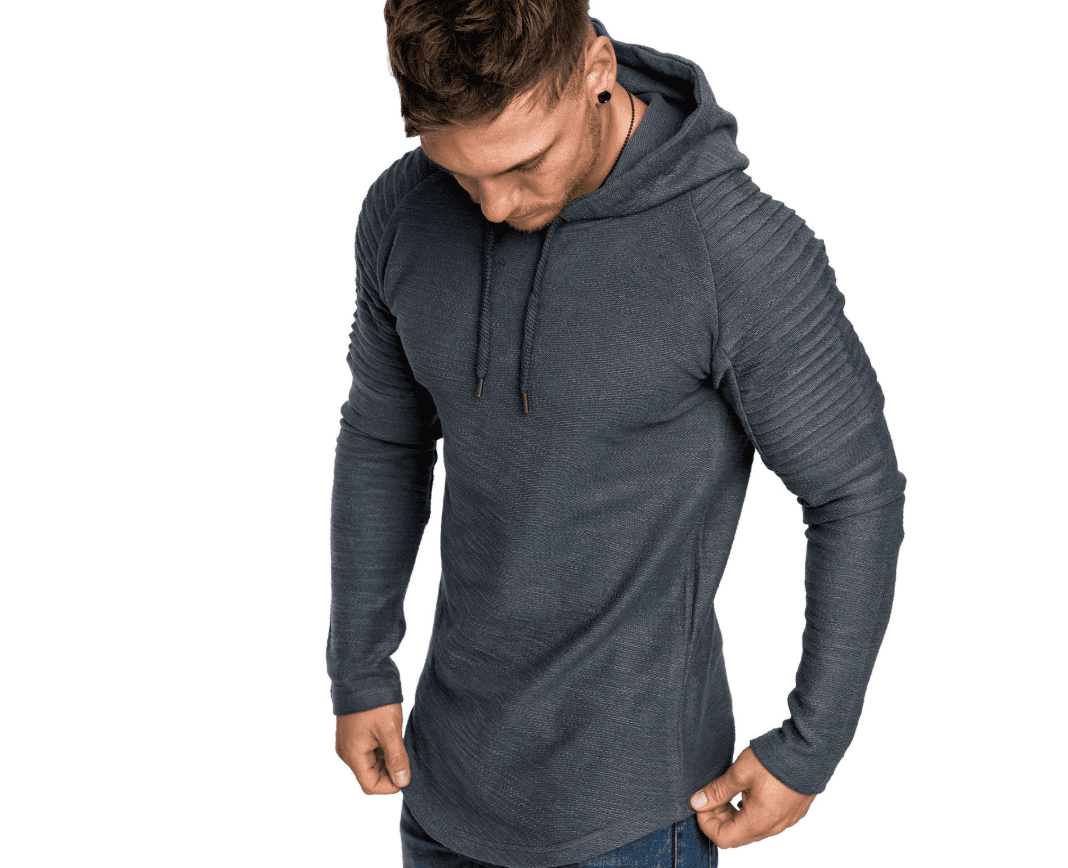 Slim round neck t-shirt design original men's hood