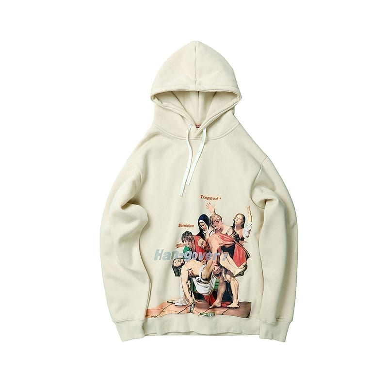 Hoodie painting Rome style for men