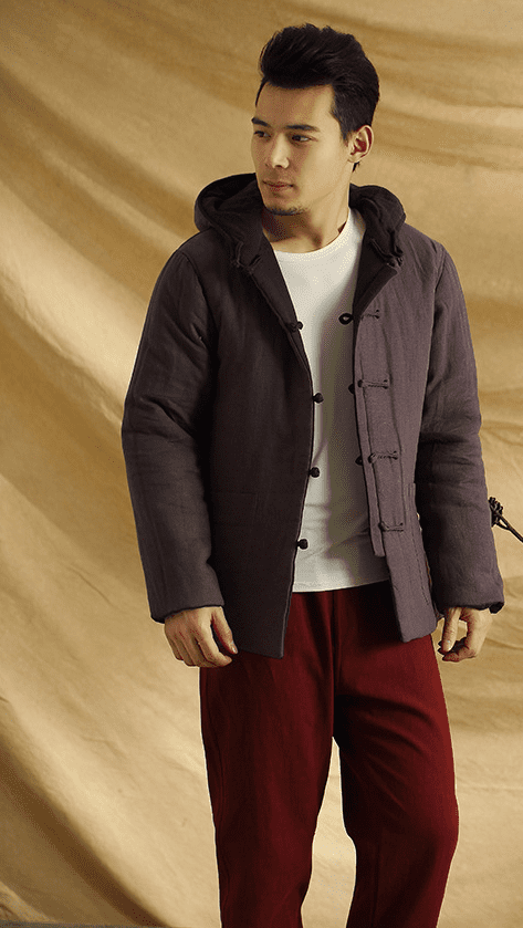 Men's modern cotton design warm coat