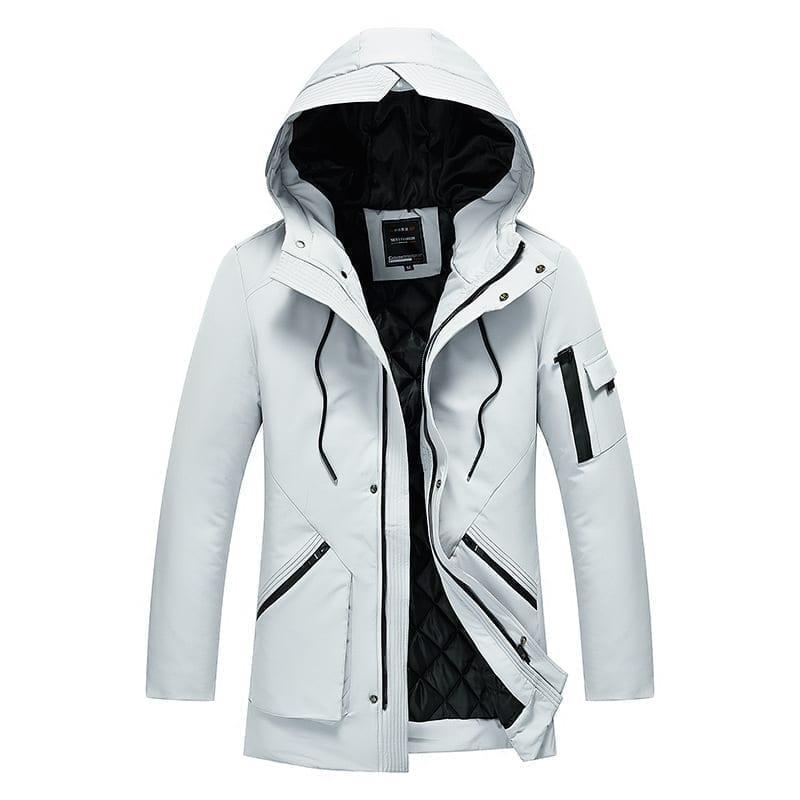 Cotton coat with men's hood
