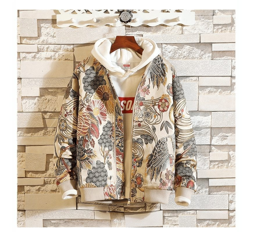 Stylish bomber embroidered men's jacket
