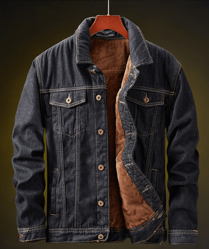 Men's velvet denim jacket