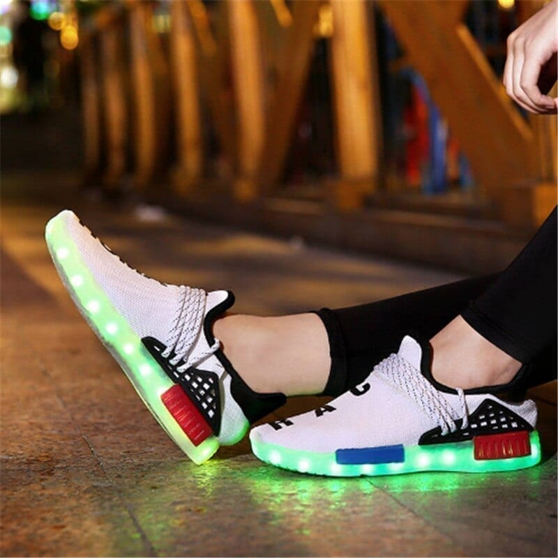 Men's bright design sneakers shoes