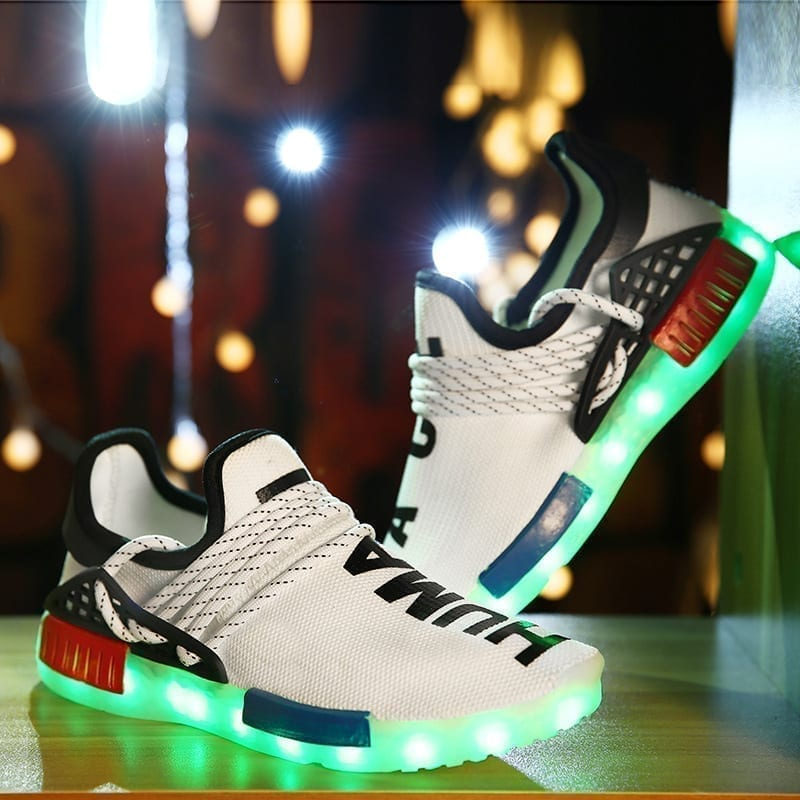 Chaussures sneakers design lumineux pour hommes