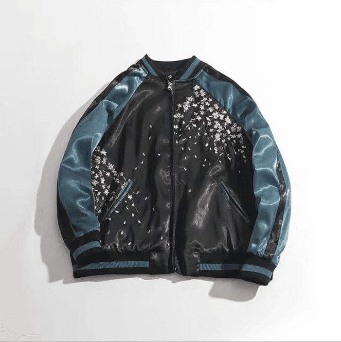 Bomber embroidery vintage baseball style for men