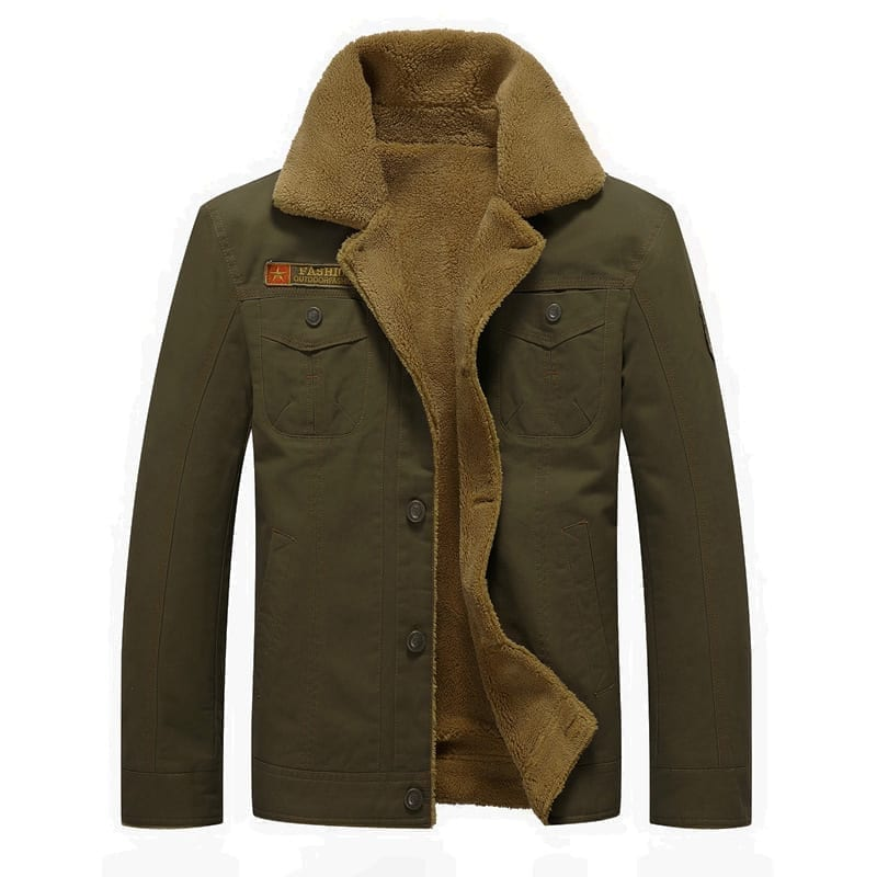Men's collared fleece jacket