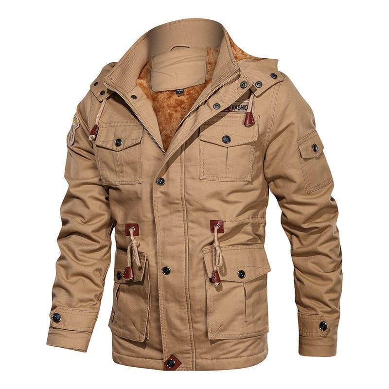 Men's military-style polar jacket