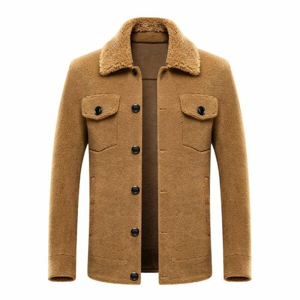 Elegant sheep-style men's jacket