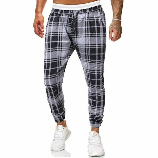 Men's checked sweatpants
