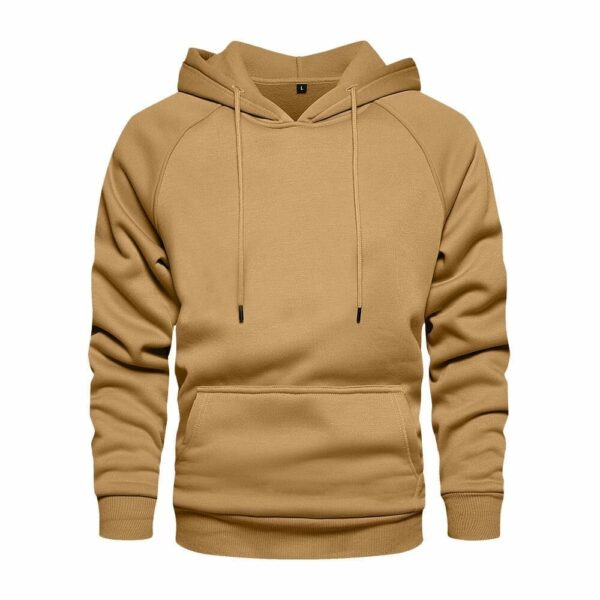 Hoodie classic khaki hood for men