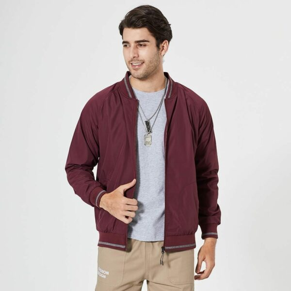 Classic casual men's baseball jacket
