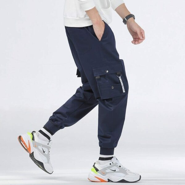 Casual cargo pants solid color for men