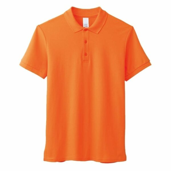 Men's casual solid-coloured polo shirt with short sleeve
