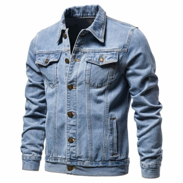 Classic men's denim half-season jacket