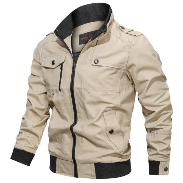 Casual half-season jacket for men