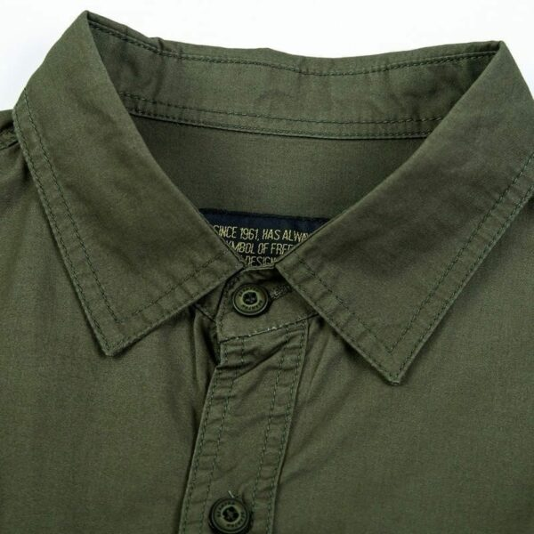 Men's Short Sleeve Military Style Shirt