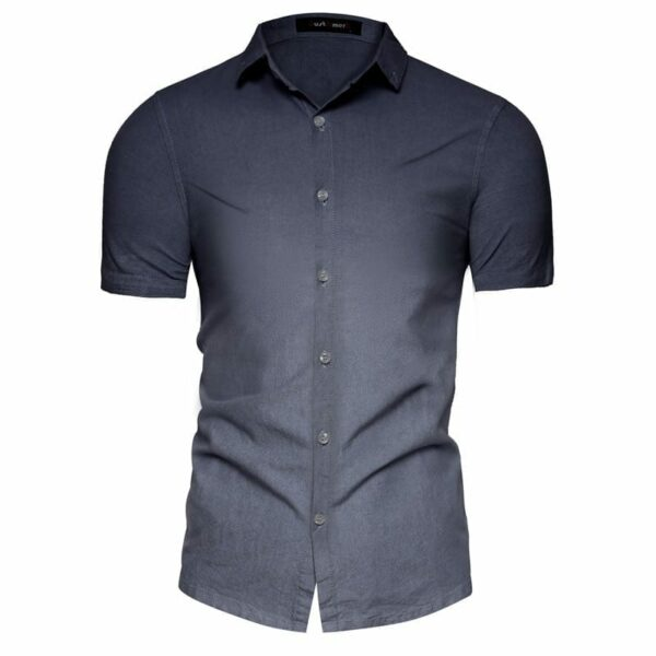 Men's degraded short-sleeved shirt