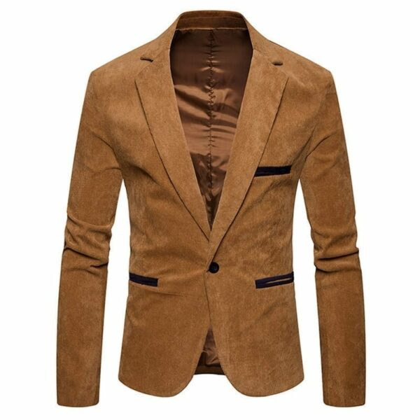 Men's velvet-style suit jacket blazer