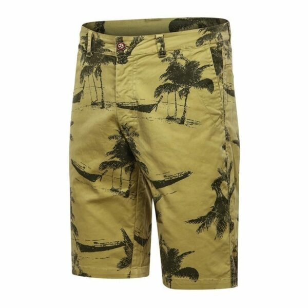 Shorts wide Bermuda style cargo style printed men