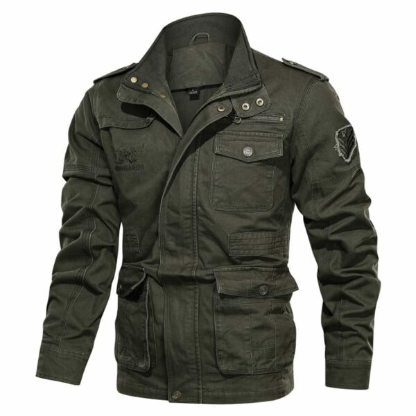 Mid-season military style jacket for men