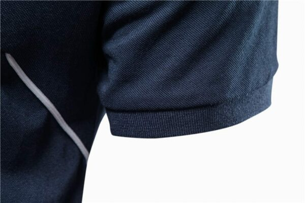 Sports polo embroidery short sleeves for men