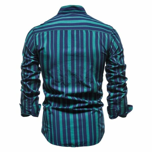 Men's multi-coloured striped shirt