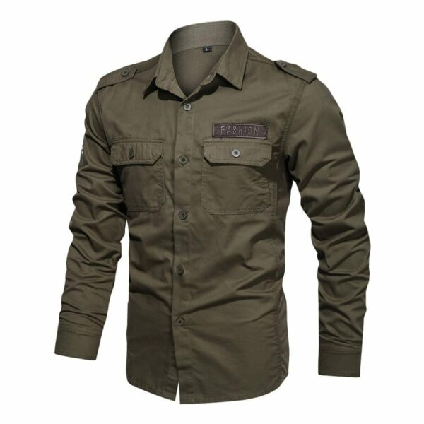Men's military-style shirt