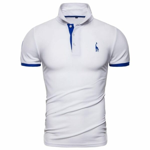 Casual polo two-color embroidery for men