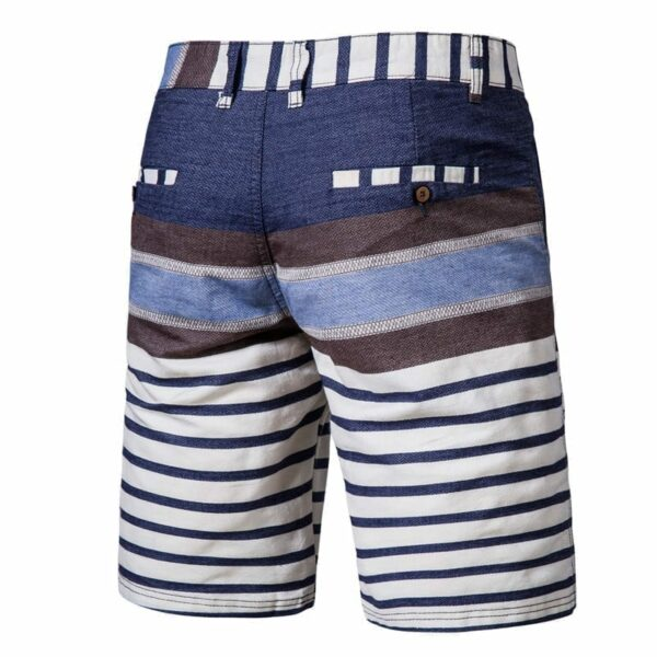Striped striped short design for men