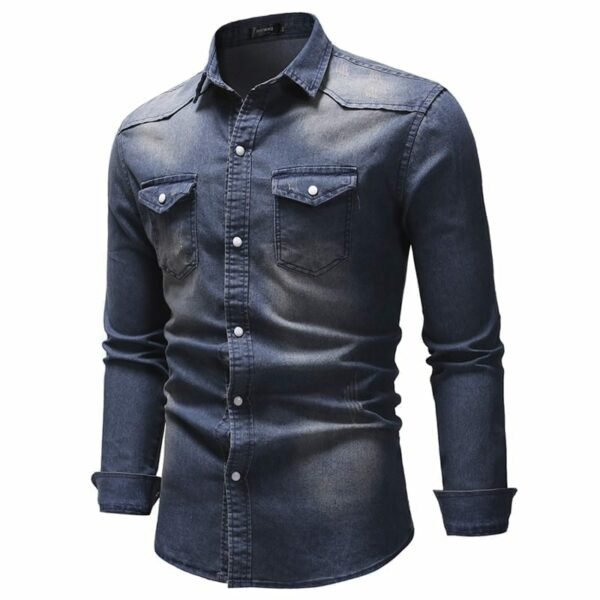Men's faded denim shirt