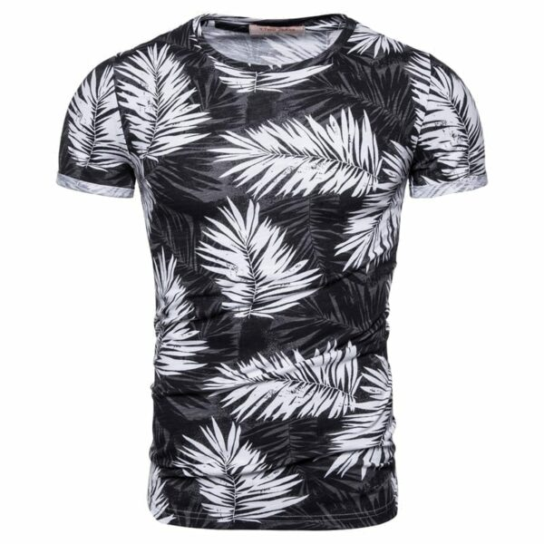 Men's slim fit printed T-shirt