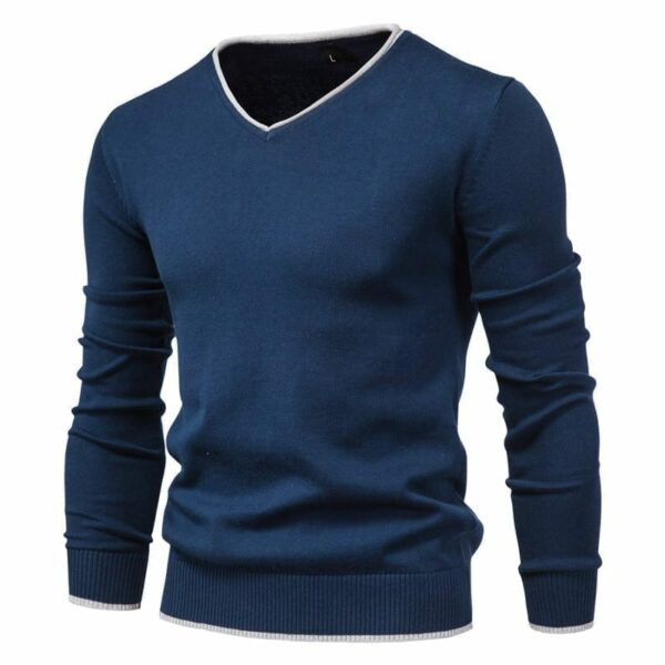 Casual V-neck sweater for men